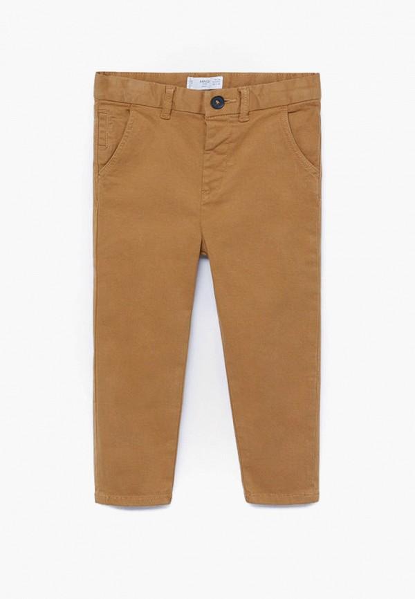 брюки mango kids для мальчика, коричневые