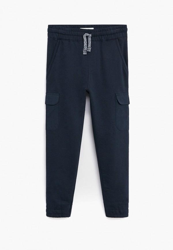спортивные брюки mango kids для мальчика, синие