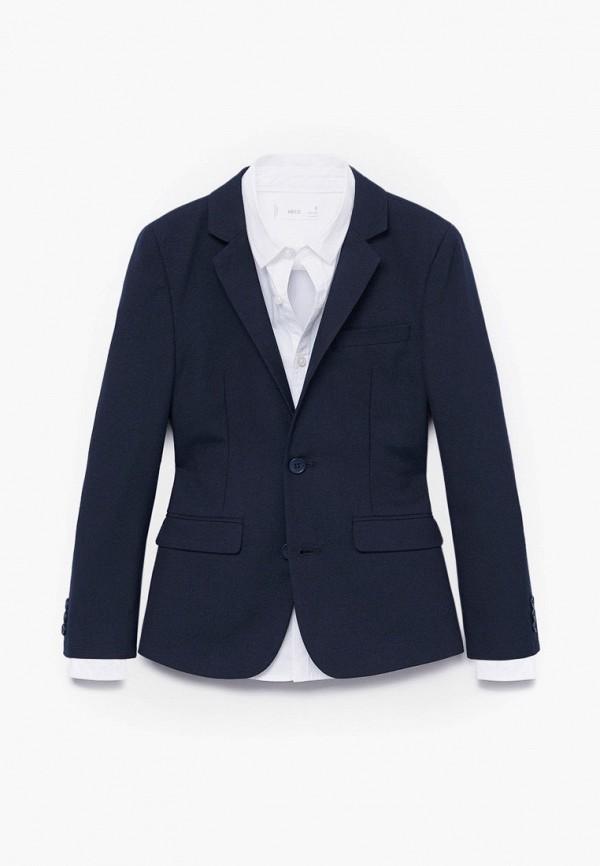 пиджак mango kids для мальчика, синий