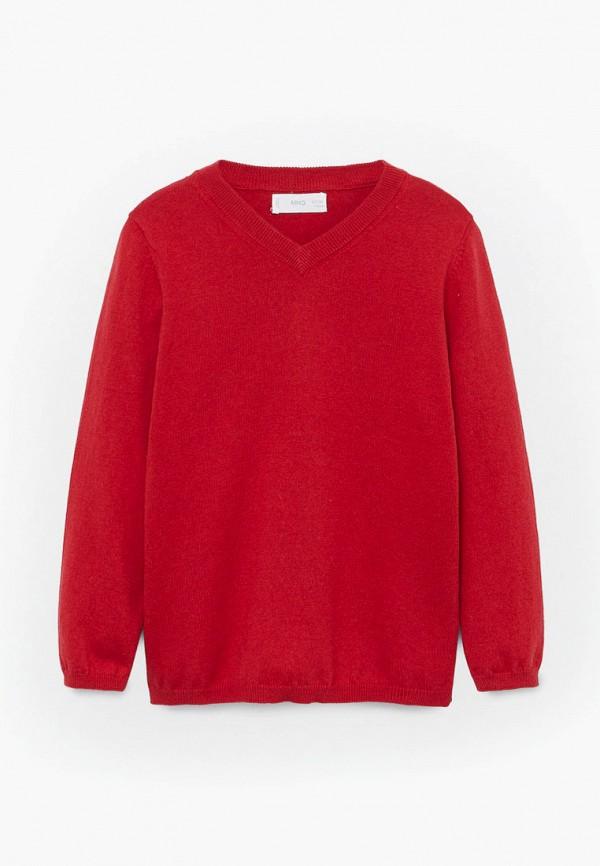 пуловер mango kids для мальчика, красный