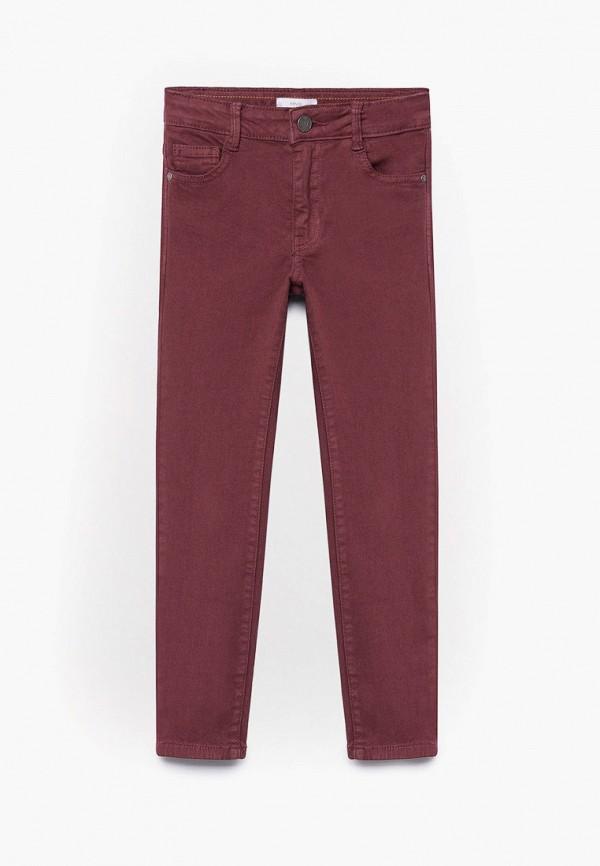 брюки mango kids для мальчика, бордовые