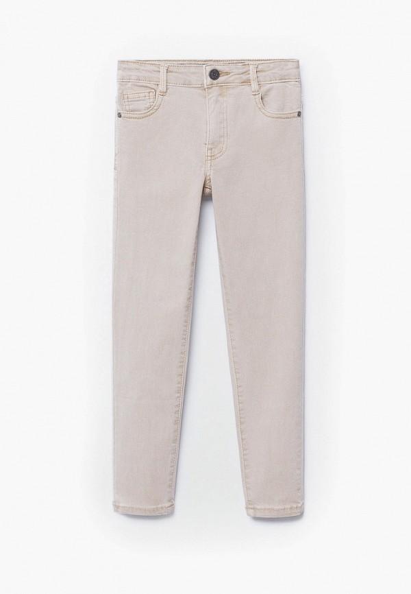 брюки mango kids для мальчика, бежевые