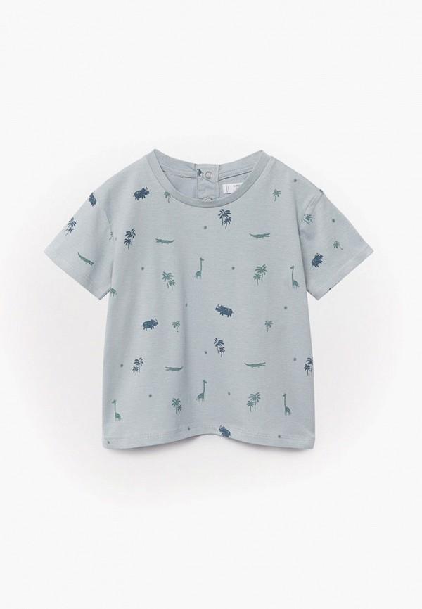 футболка с коротким рукавом mango kids для мальчика, голубая