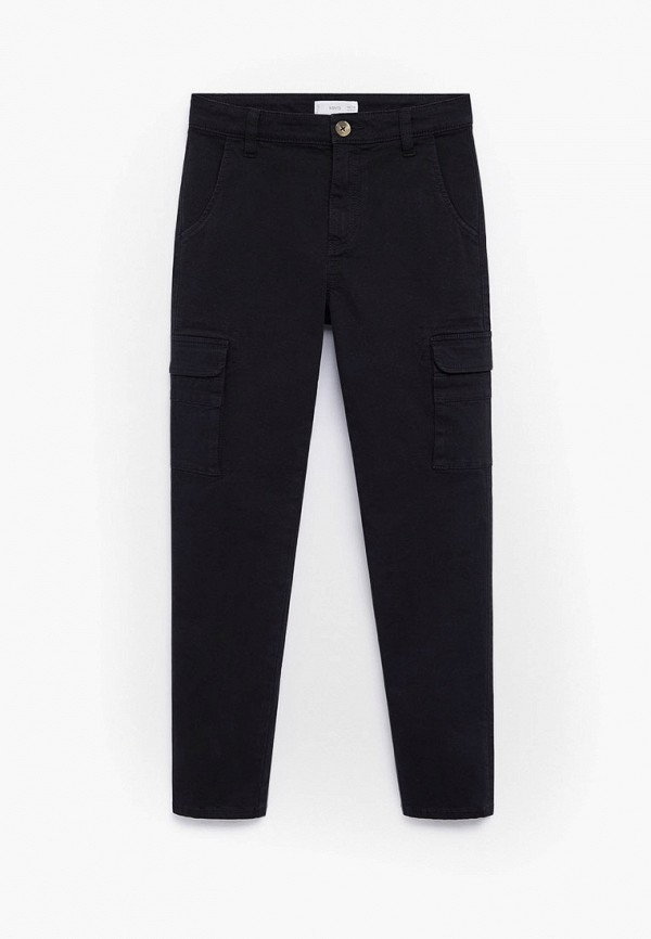 брюки mango kids для мальчика, черные