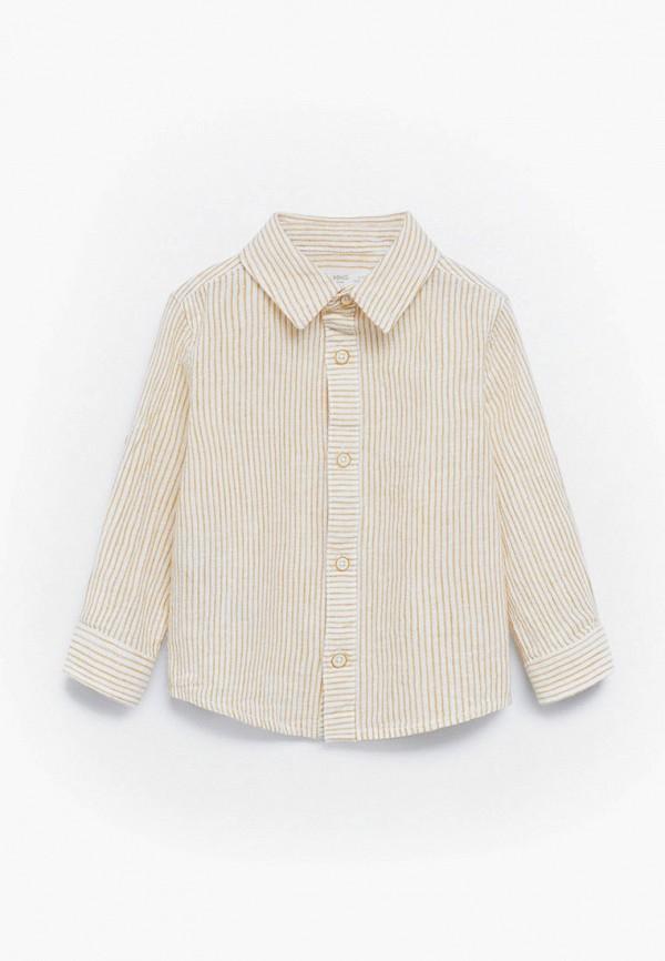 рубашка mango kids для мальчика, желтая