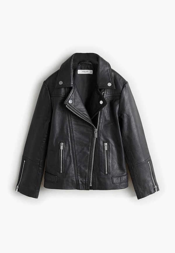 Купить Куртка кожаная Mango Kids, - PERFE, ma018egcocy4, черный, Осень-зима 2018/2019