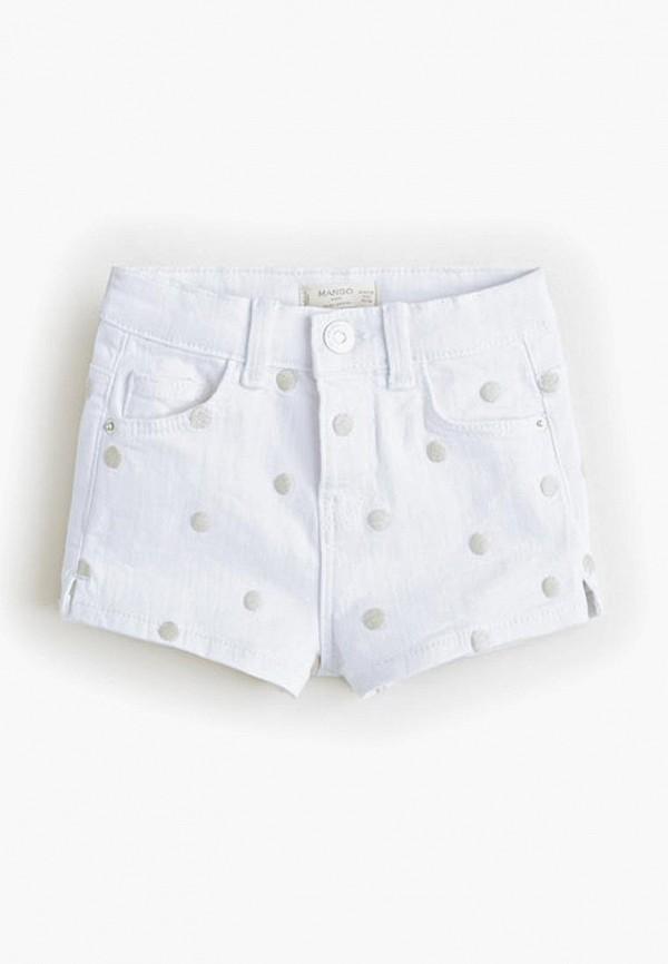 Купить Шорты Mango Kids, - PAT, ma018egeypo6, белый, Весна-лето 2019