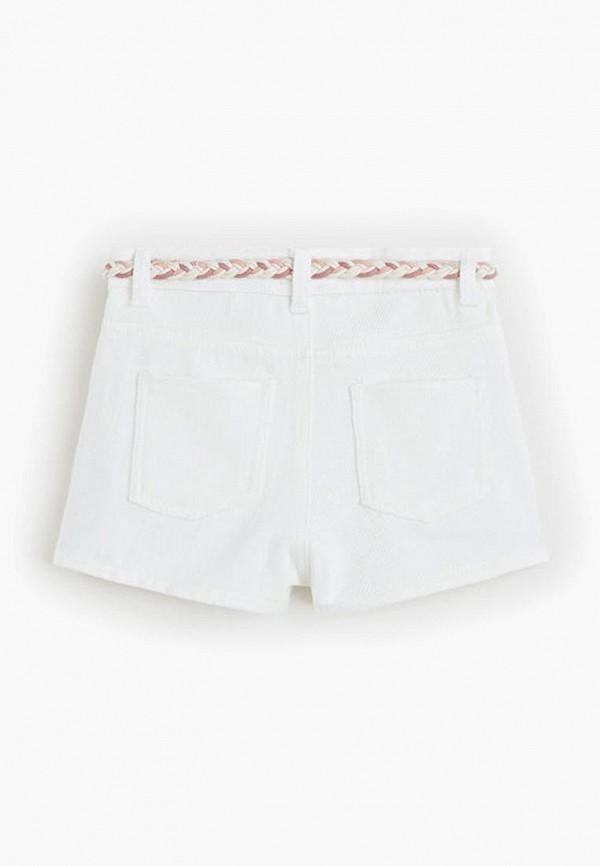 Фото 2 - Шорты джинсовые Mango Kids белого цвета