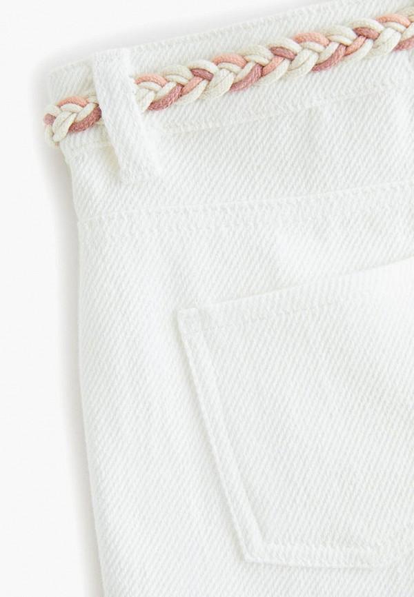Фото 3 - Шорты джинсовые Mango Kids белого цвета