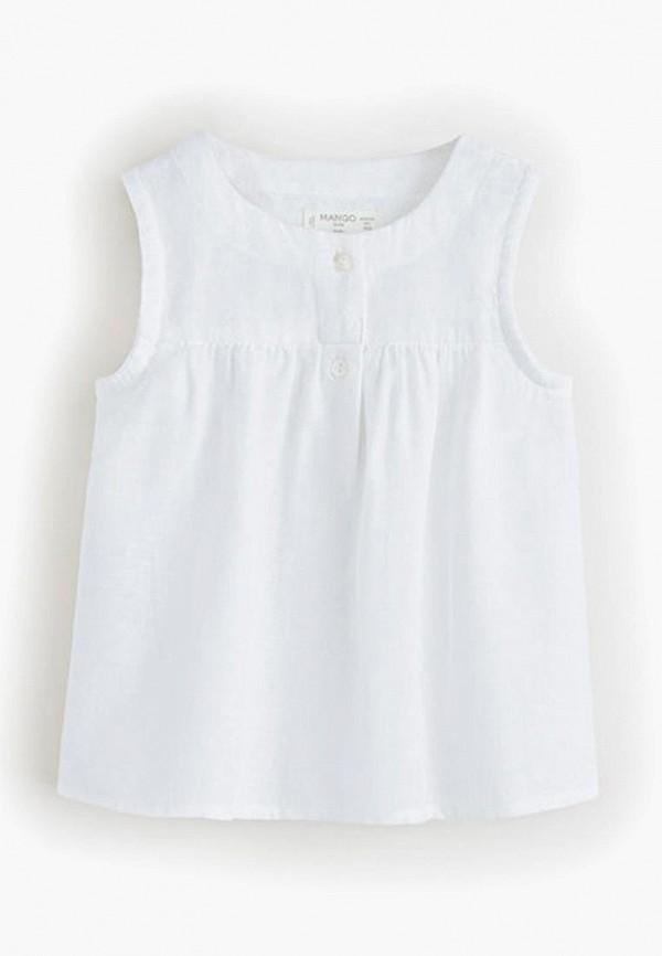 Фото - Блузу Mango Kids белого цвета