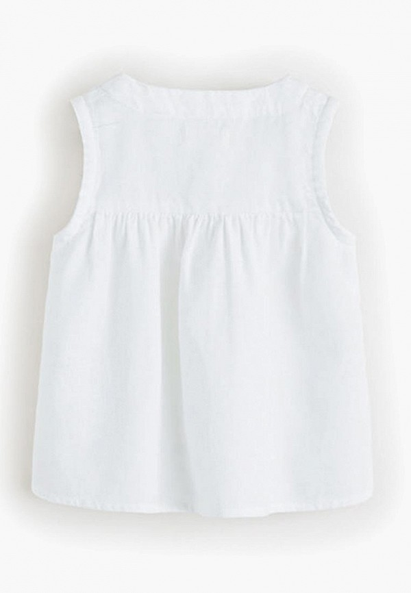 Фото 2 - Блузу Mango Kids белого цвета