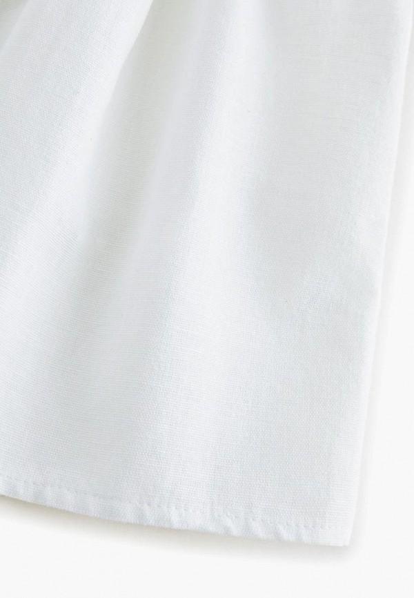 Фото 3 - Блузу Mango Kids белого цвета