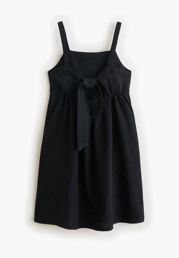Фото 2 - Платье Mango Kids черного цвета