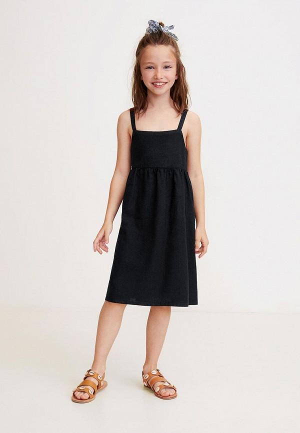 Фото 3 - Платье Mango Kids черного цвета