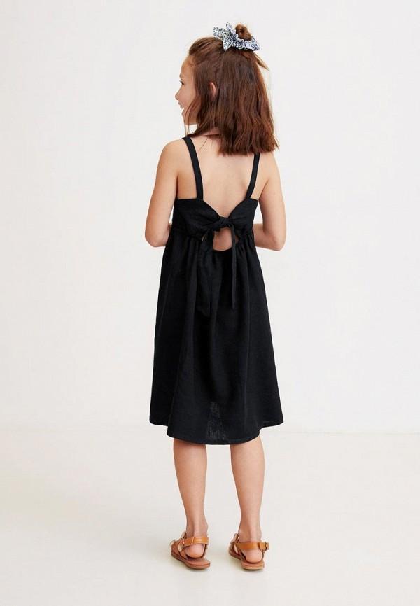 Фото 4 - Платье Mango Kids черного цвета