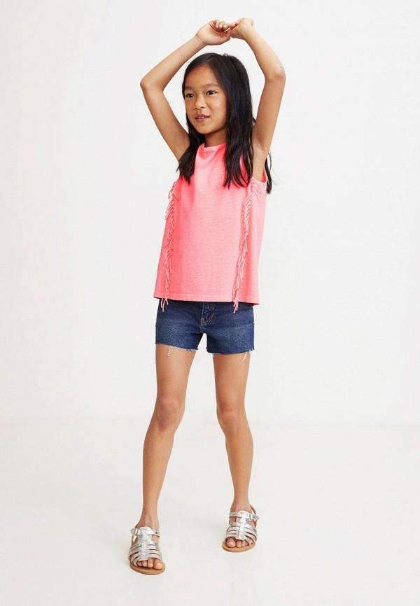 Фото 3 - Майку Mango Kids розового цвета