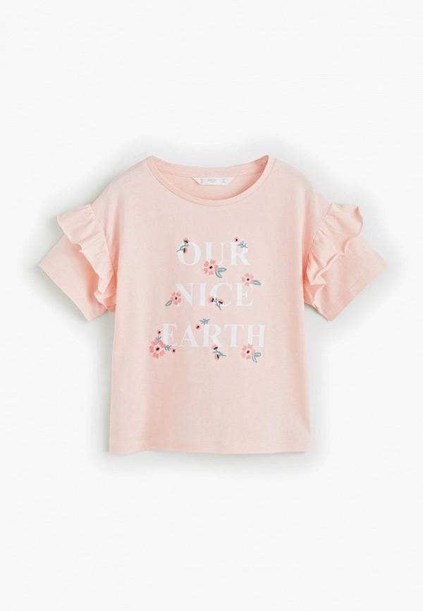 Купить Футболка Mango Kids, - EARTH, ma018egfehk1, розовый, Весна-лето 2019