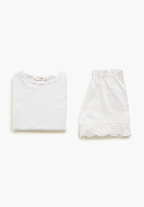 Купить Пижама Mango Kids белого цвета
