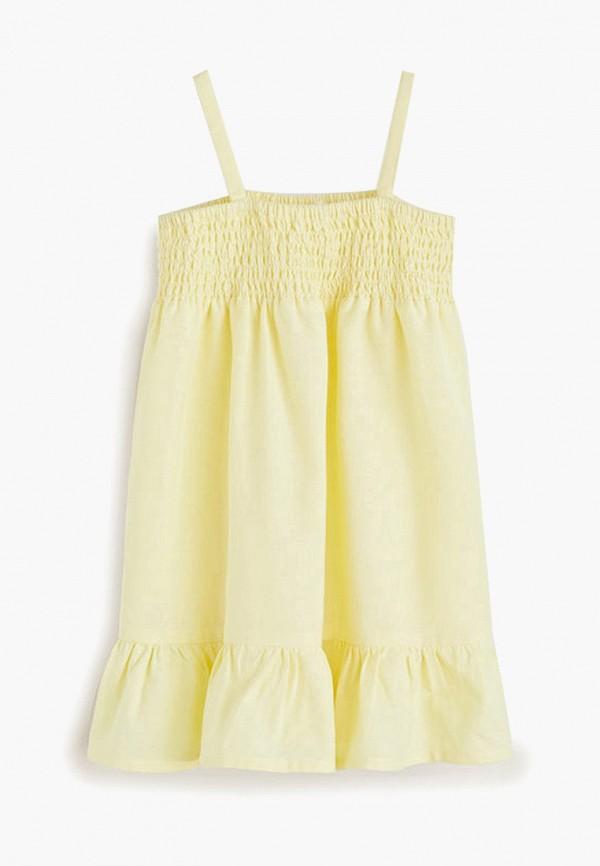 сарафан mango kids для девочки, желтый