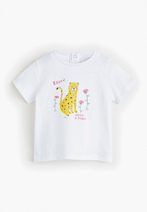 футболка mango kids для девочки, белая