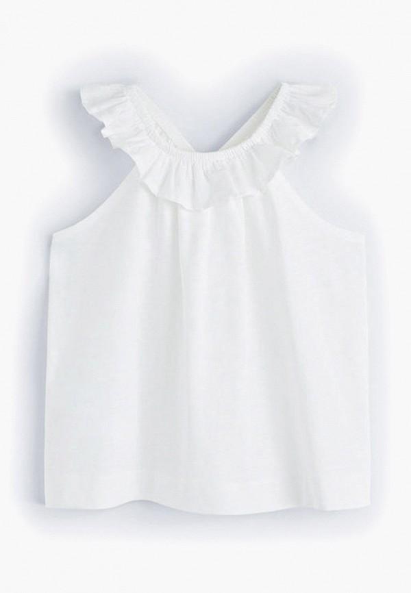 Купить футболку или топ для девочки Mango Kids белого цвета