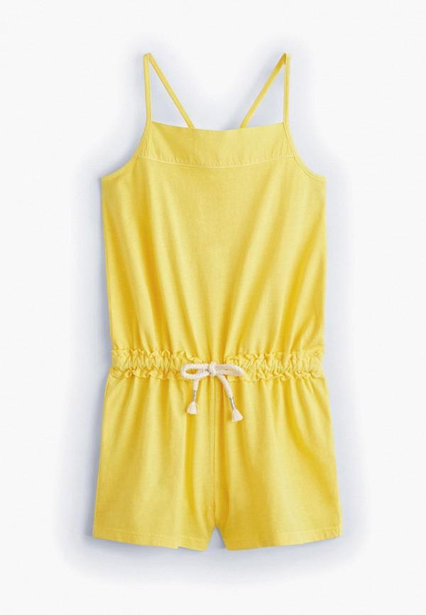 комбинезон mango kids для девочки, желтый