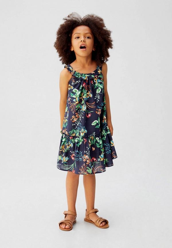 Фото 3 - Платье Mango Kids синего цвета