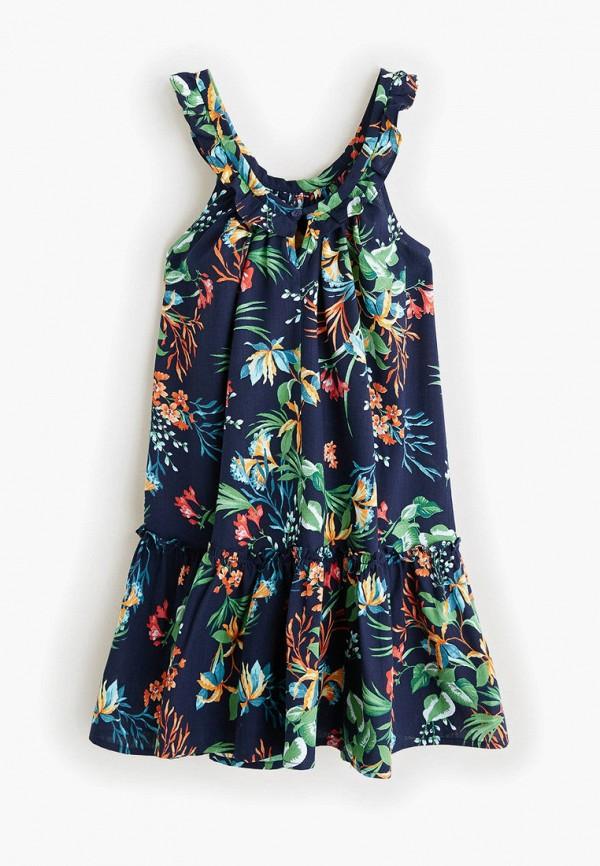Фото 2 - Платье Mango Kids синего цвета