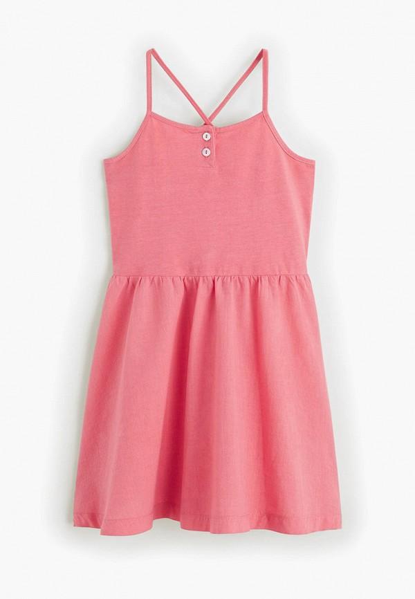 платье mango kids для девочки, розовое