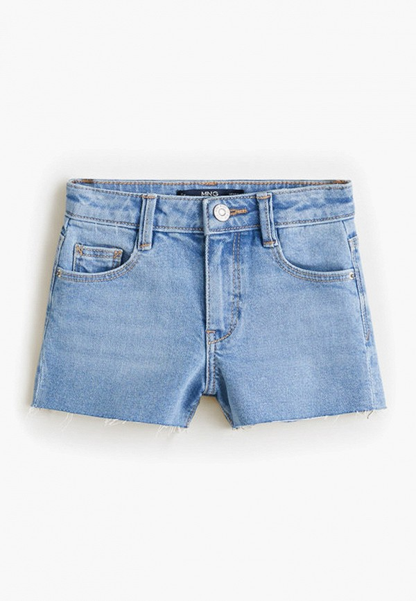 шорты mango kids для девочки, голубые