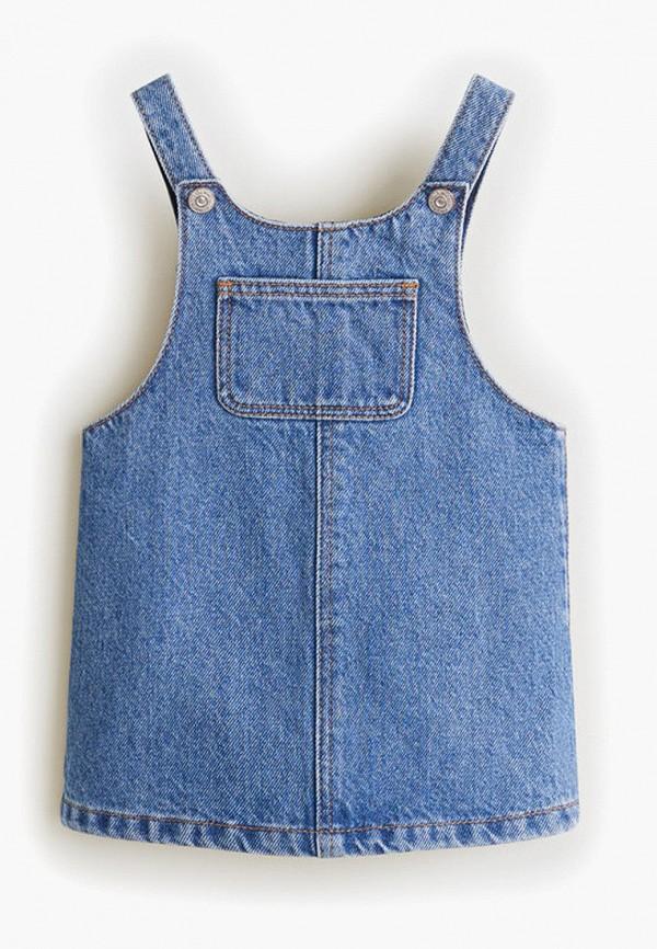 Фото - платье или сарафан для девочки Mango Kids синего цвета