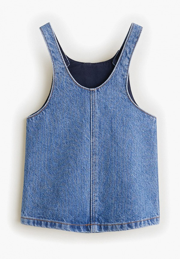 Фото 2 - платье или сарафан для девочки Mango Kids синего цвета
