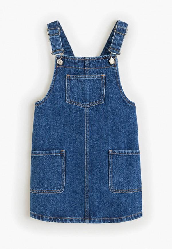 Купить платье или сарафан для девочки Mango Kids синего цвета