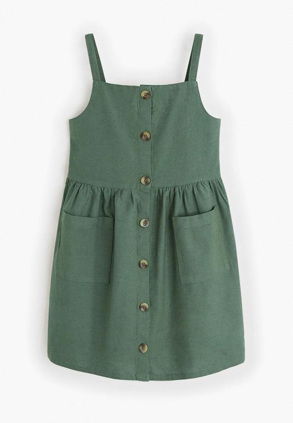 Купить Платье Mango Kids зеленого цвета