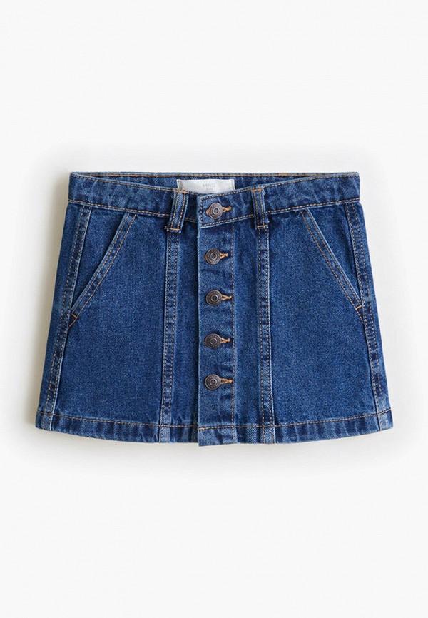 Купить Юбку джинсовая Mango Kids синего цвета