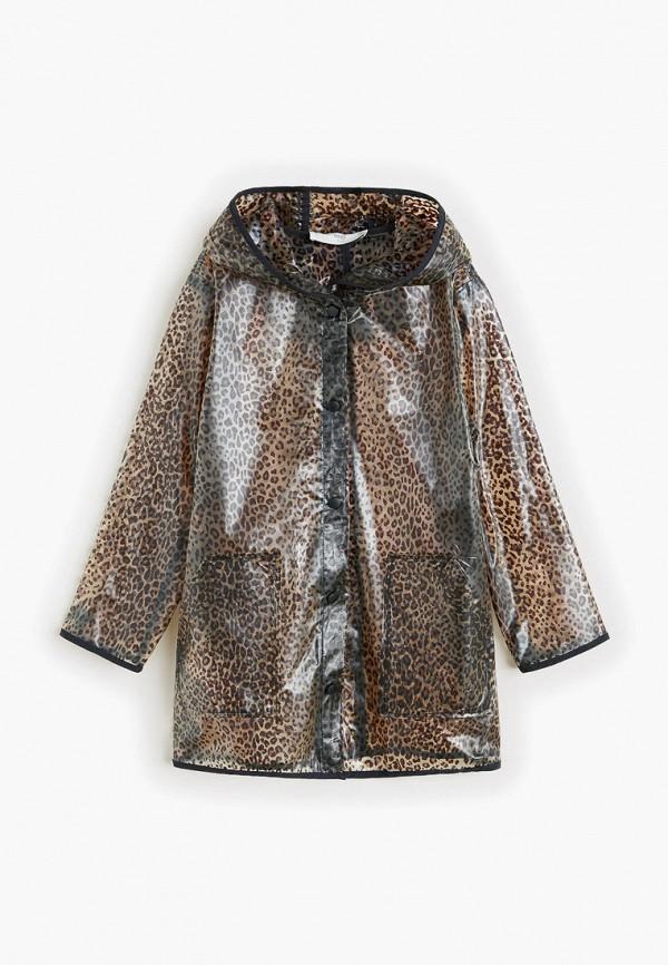 Купить пальто или плащ для девочки Mango Kids коричневого цвета