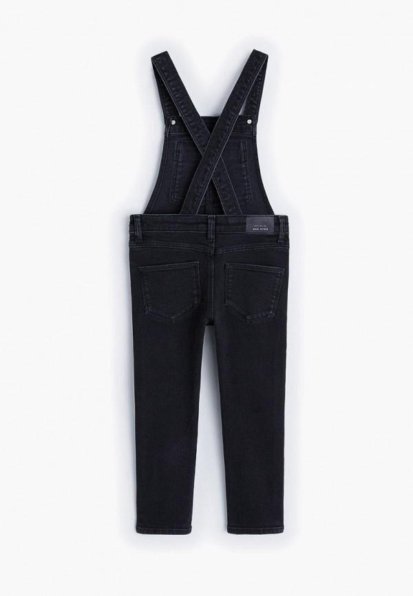 Фото 2 - Комбинезон джинсовый Mango Kids черного цвета