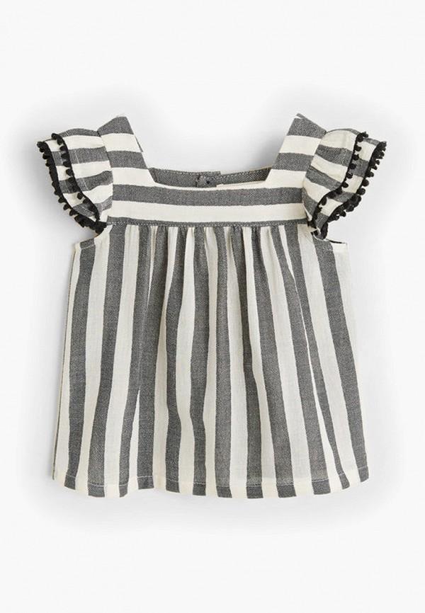 блузка mango kids для девочки, серая