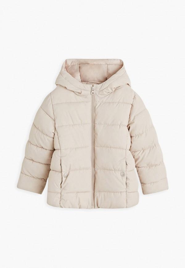 куртка mango kids для девочки, бежевая