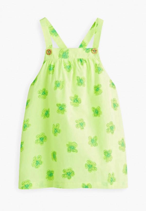 платье mango kids для девочки, зеленое