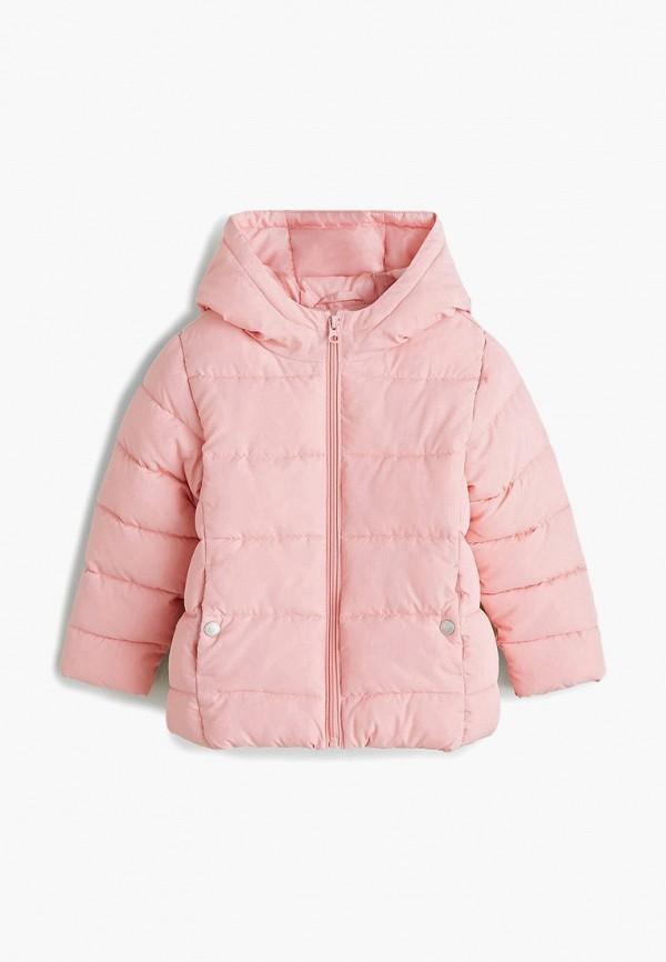 куртка mango kids для девочки, розовая