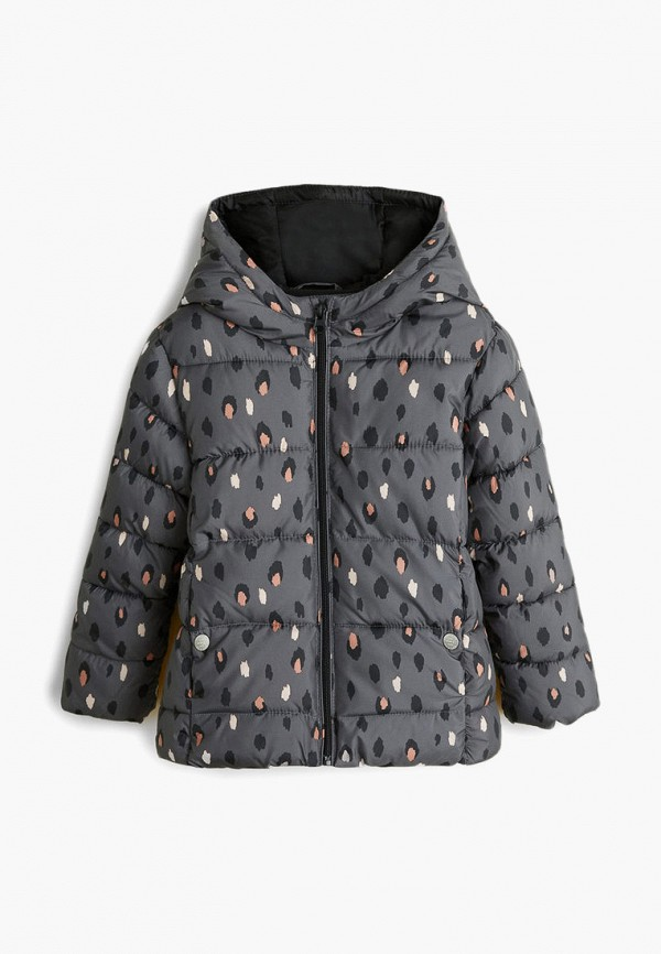 куртка mango kids для девочки, серая