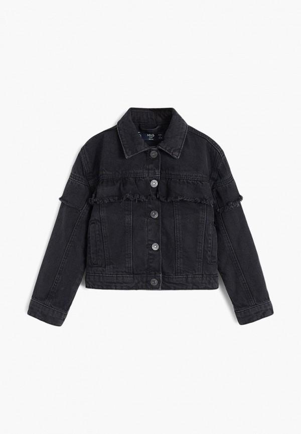 куртка mango kids для девочки, черная