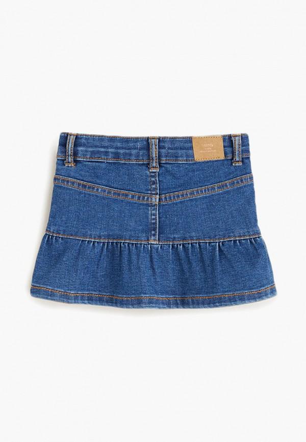 Фото 2 - Юбку джинсовая Mango Kids синего цвета
