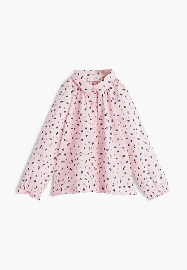 блузка mango kids для девочки, розовая