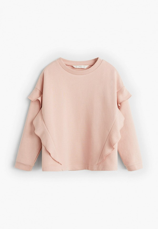 свитшот mango kids для девочки, розовый