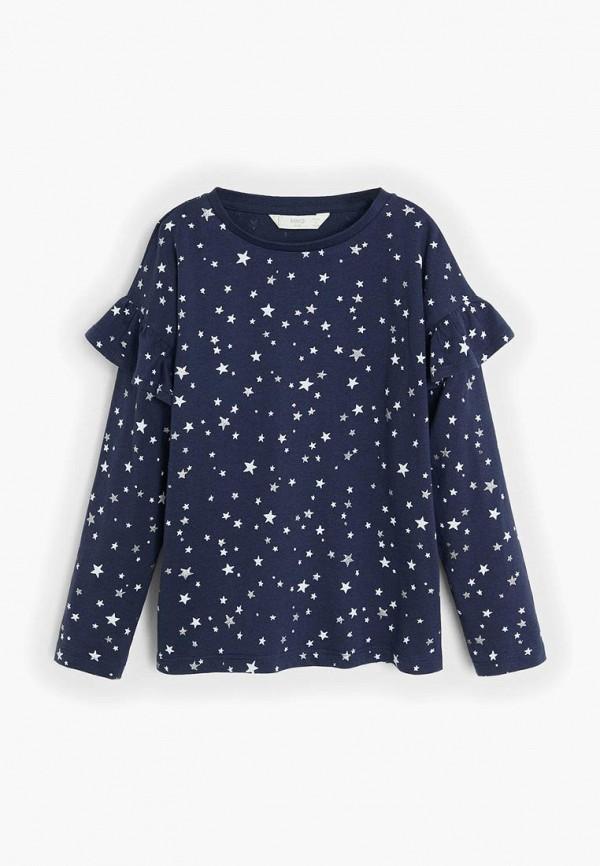 пижама mango kids для девочки, синяя