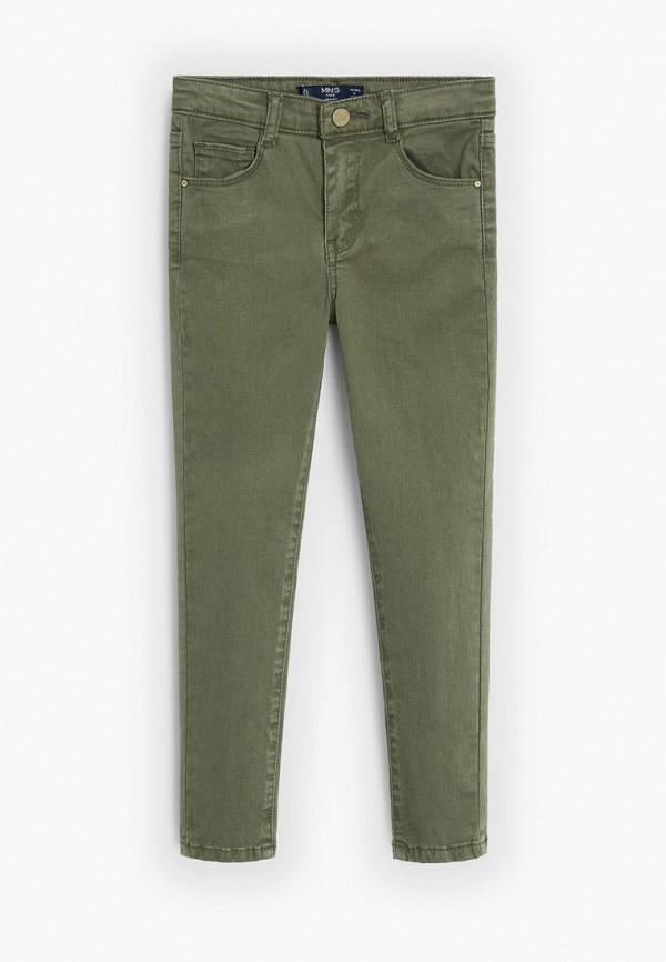 брюки mango kids для девочки, зеленые