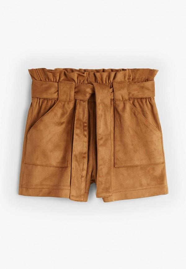 шорты mango kids для девочки, коричневые