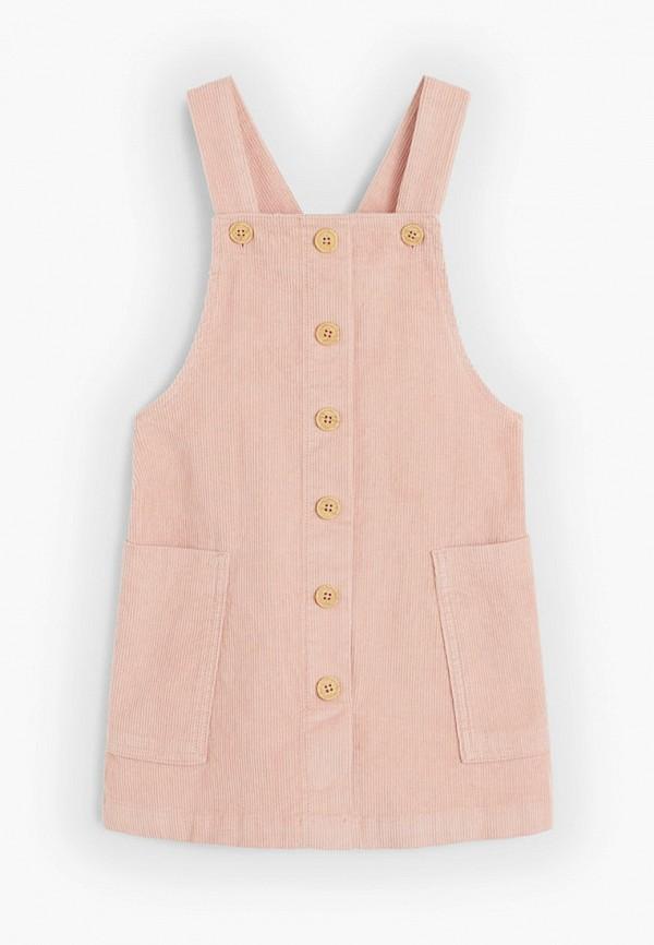 сарафан mango kids для девочки, розовый